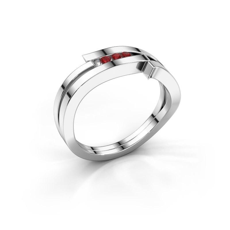 Ring Amelie 585 Weißgold Rubin 1.7 mm