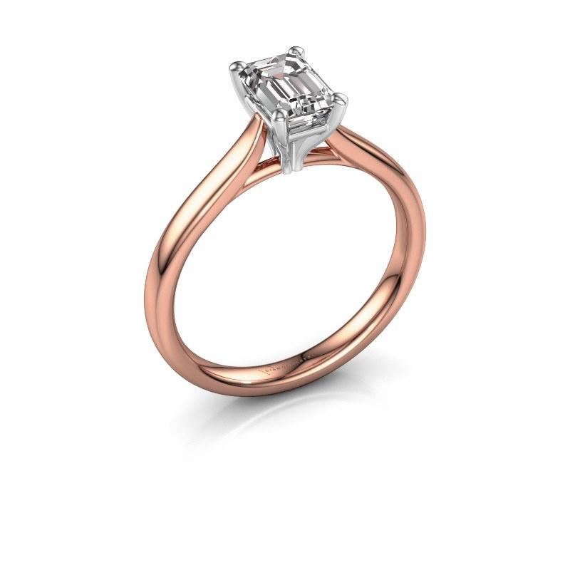 Verlobungsring Mignon eme 1 585 Roségold Lab-grown Diamant 0.90 crt