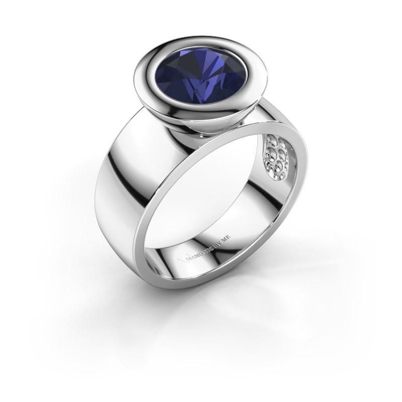 Ring Maxime 925 Silber Saphir 8 mm