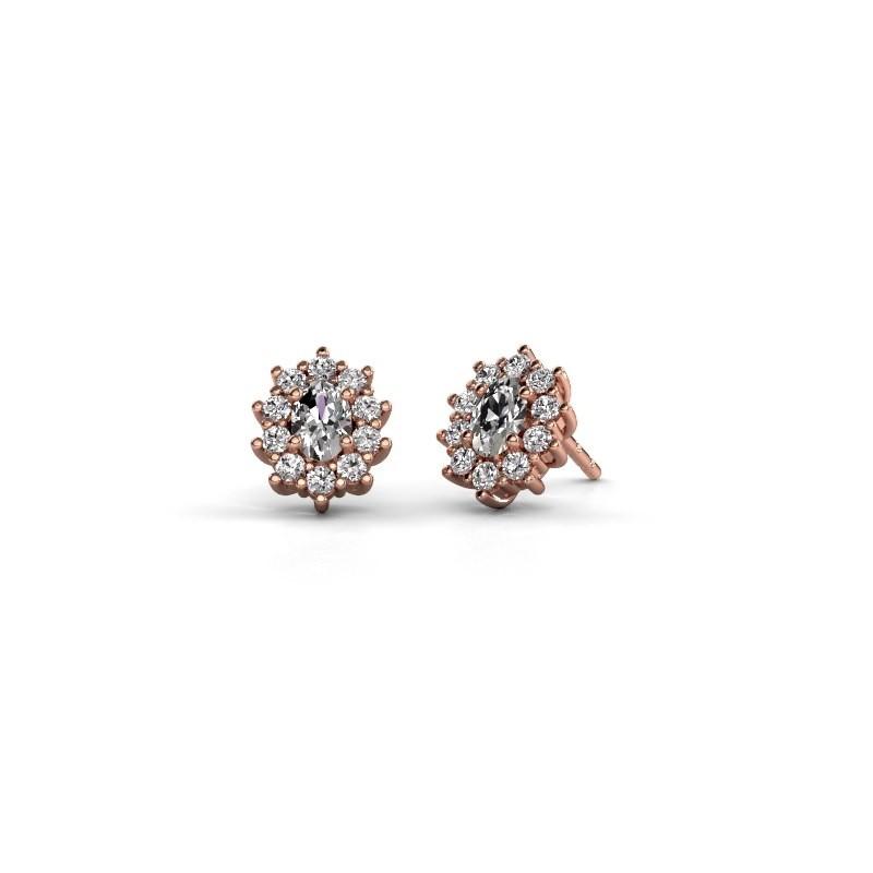 Oorbellen Leesa 375 rosé goud lab-grown diamant 1.60 crt