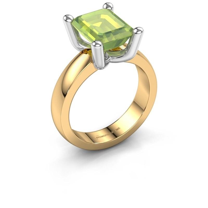 Ring Clelia EME 585 goud peridoot 10x8 mm