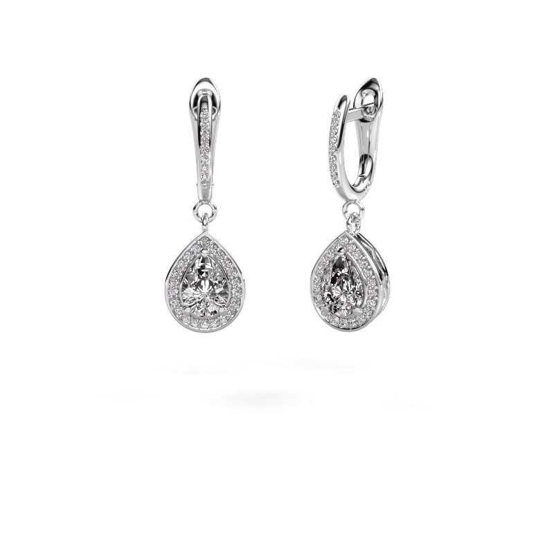 Drop earrings Ginger 2 585 white gold lab-grown diamond 1.455 crt