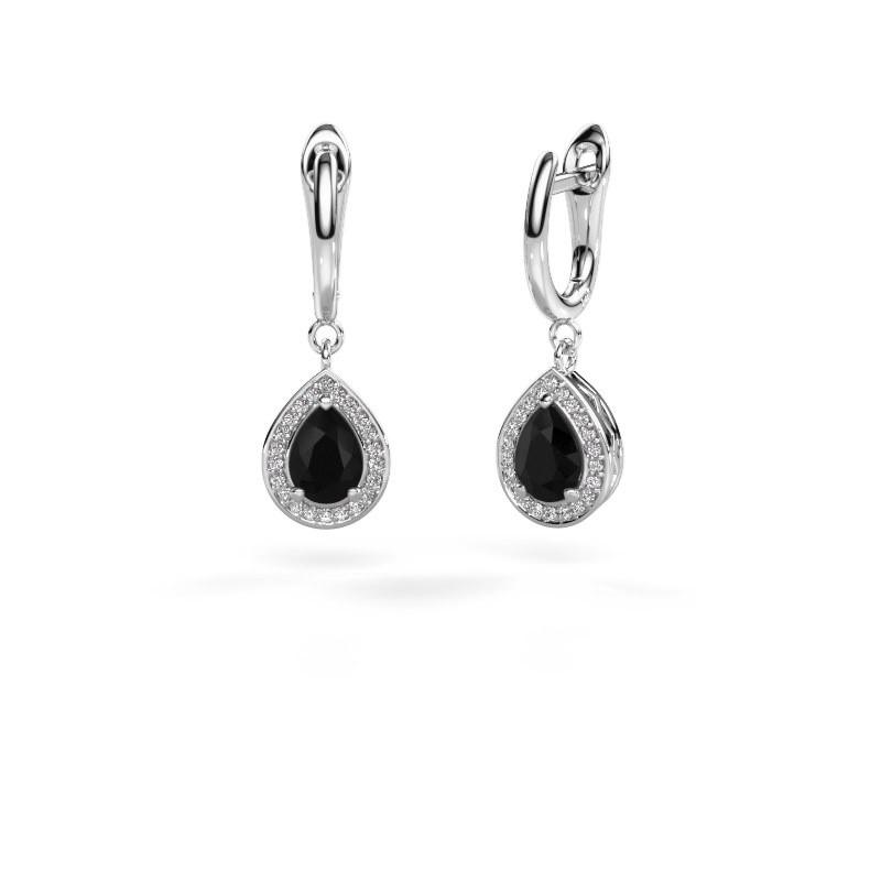 Oorhangers Ginger 1 950 platina zwarte diamant 1.78 crt