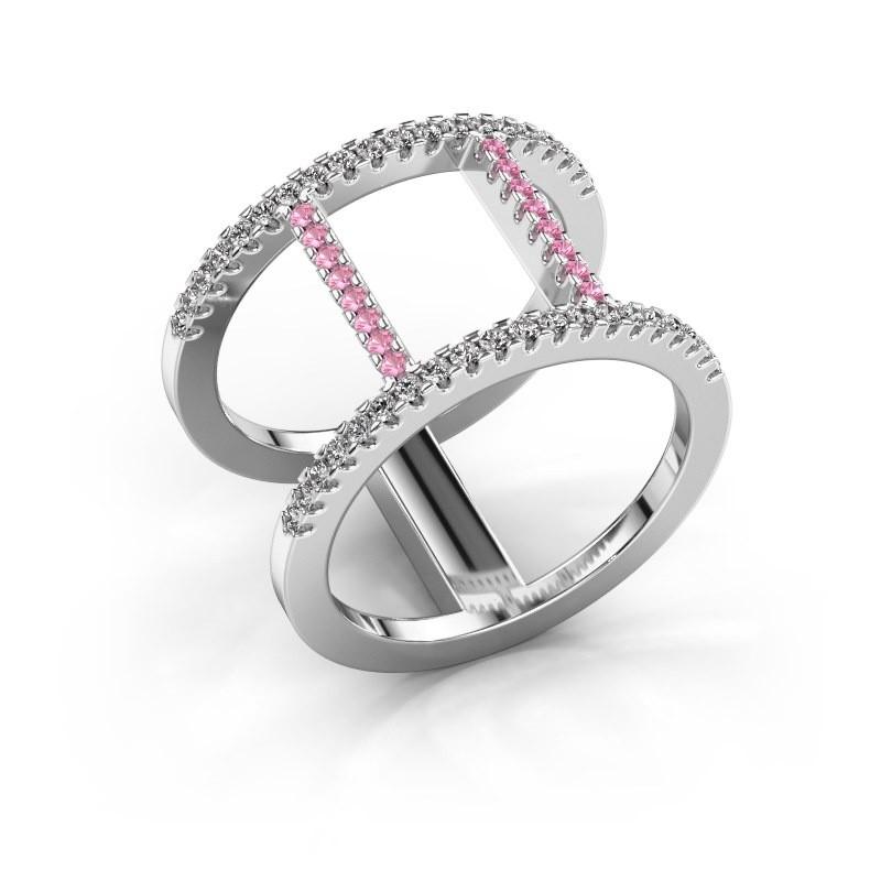 Ring Amee 950 Platin Pink Saphir 1.2 mm