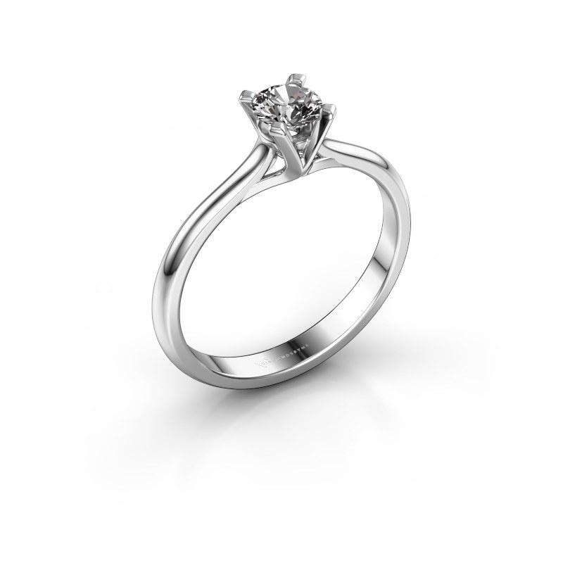 Verlovingsring Isa 1 925 zilver diamant 0.30 crt