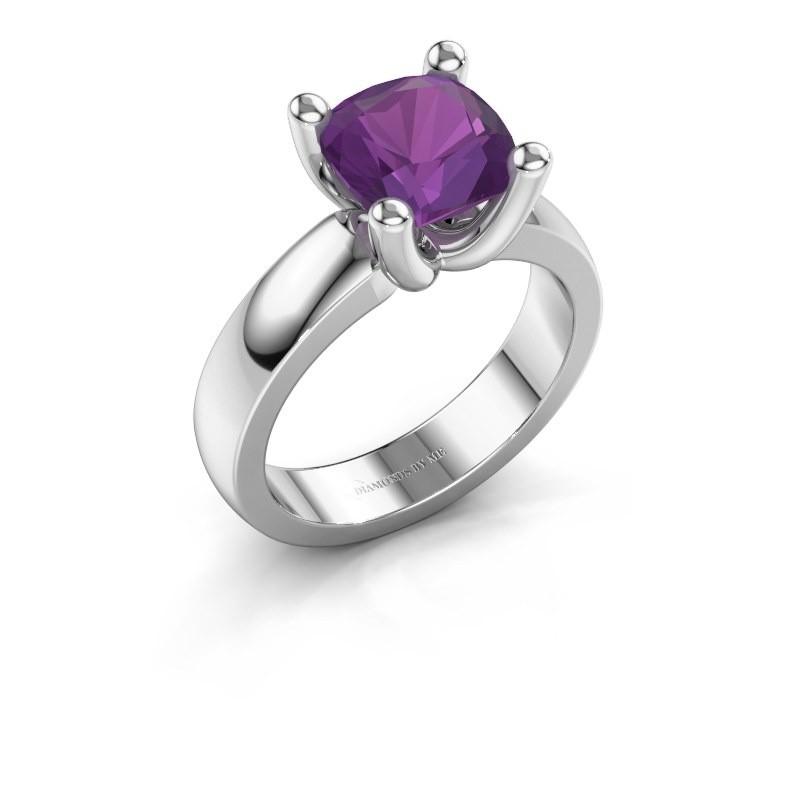 Ring Clelia CUS 925 zilver amethist 8 mm