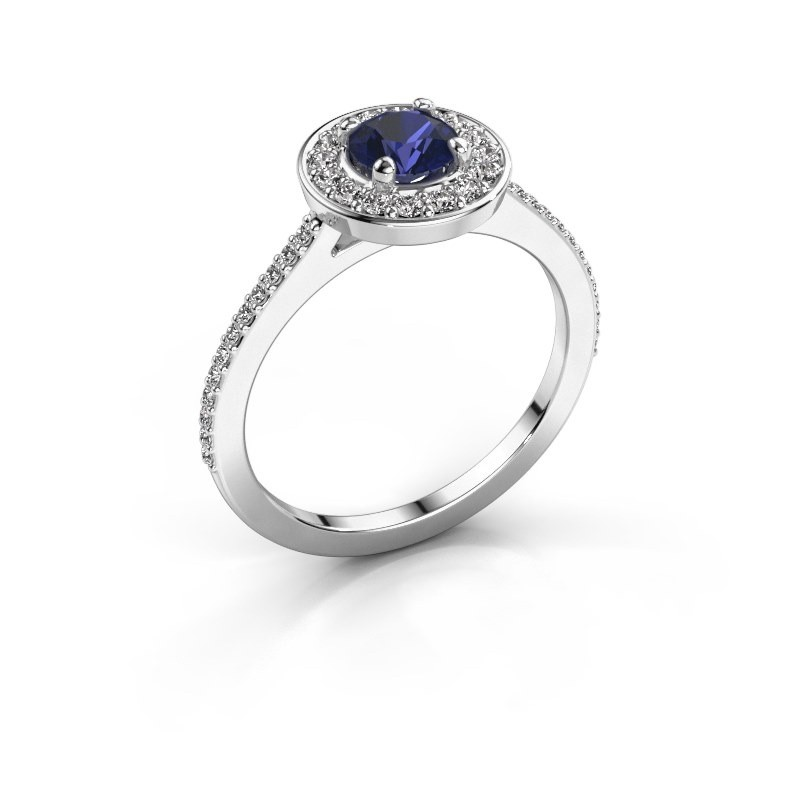 Ring Agaat 2 925 silver sapphire 5 mm