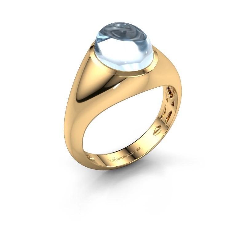 Ring Zaza 375 gold aquamarine 10x8 mm