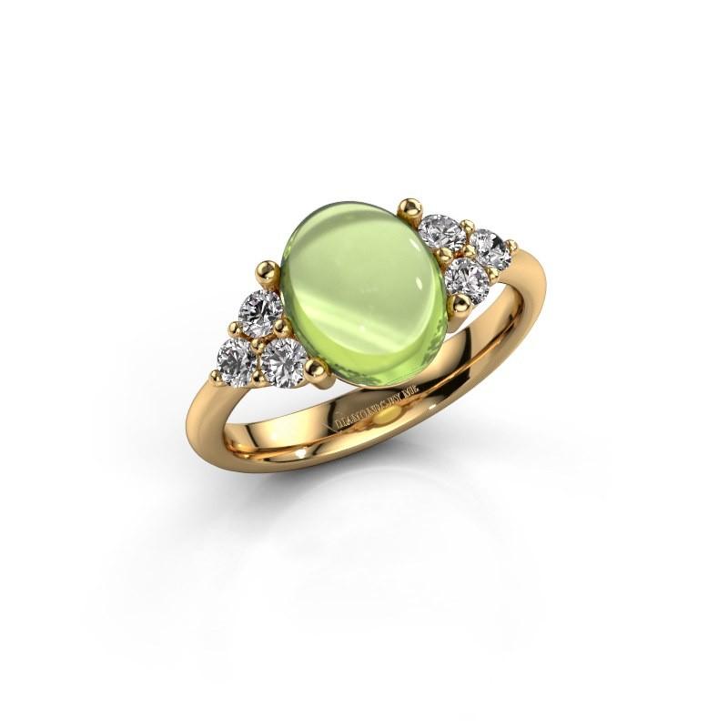 Ring Clarice 585 goud peridoot 10x8 mm