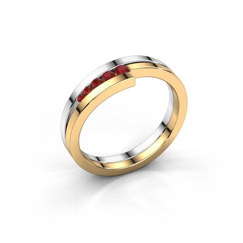 Ring Cato 585 Weißgold Rubin 2.2 mm