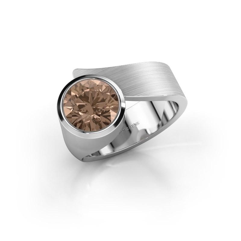 Ring Nakia 925 zilver bruine diamant 2.00 crt