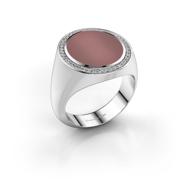 Signet ring Adam 5 585 white gold carnelian 15x13 mm
