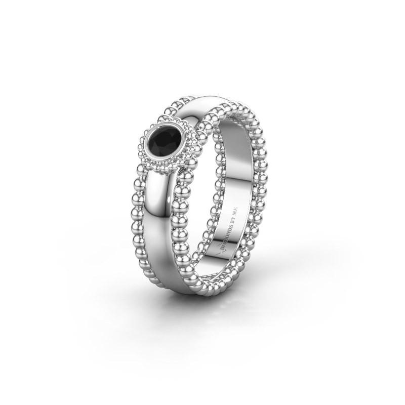 Alliance WH3053L16A 925 argent diamant noir ±6x1.7 mm