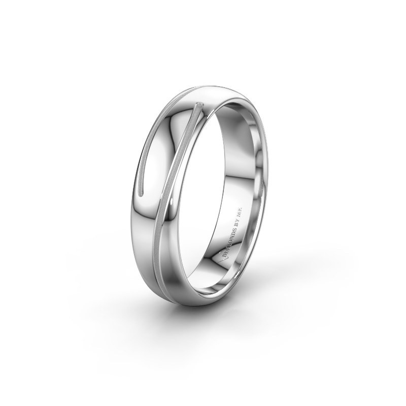 Wedding ring WH0152M25A 950 platinum ±0.20x0.07 in