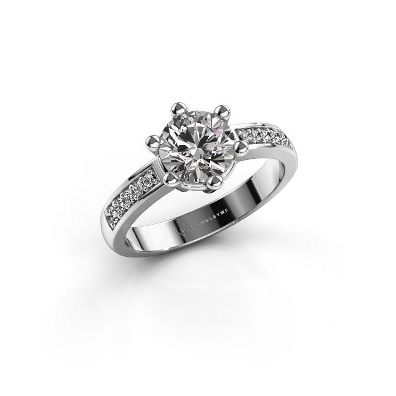Verlovingsring Luna 2 925 zilver diamant 1.00 crt