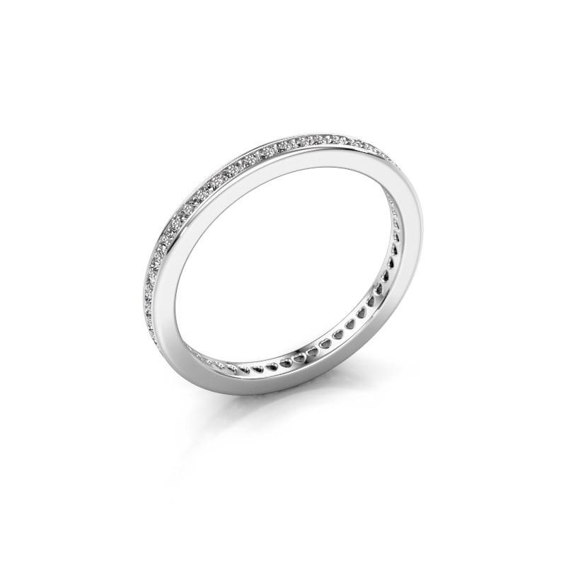Aanschuifring Elvire 1 375 witgoud diamant 0.328 crt