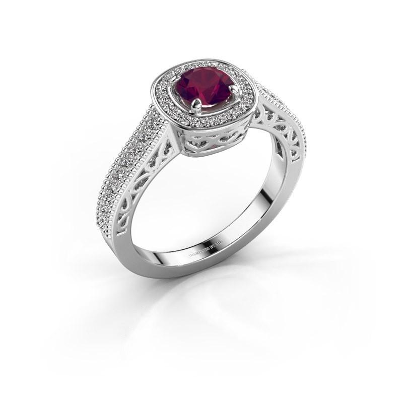 Verlovings ring Candi 925 zilver rhodoliet 5 mm