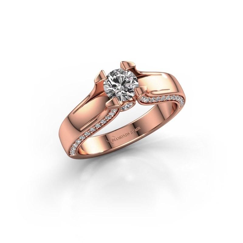 Verlovingsring Jeanne 1 375 rosé goud zirkonia 5 mm