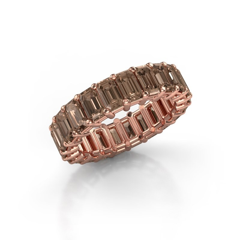 Ring Heddy EME 5x3 375 Roségold Braun Diamant 6.38 crt