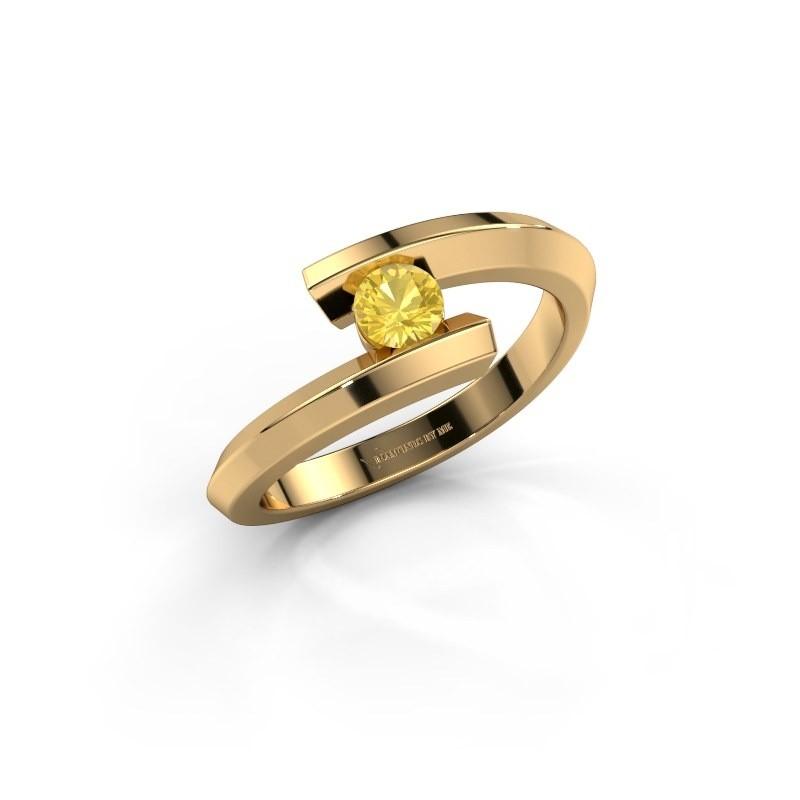 Ring Paulette 585 gold yellow sapphire 3.4 mm