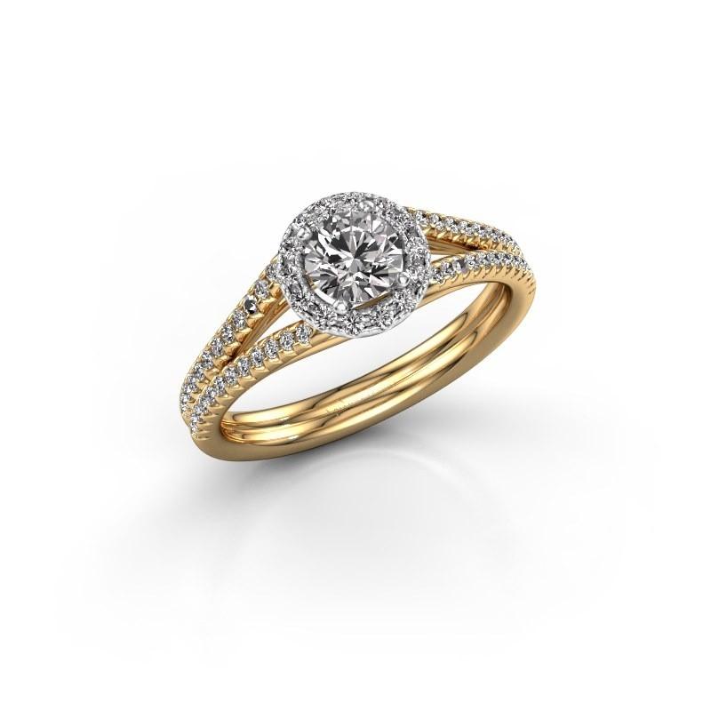 Verlovingsring Verla 2 585 goud lab-grown diamant 0.745 crt