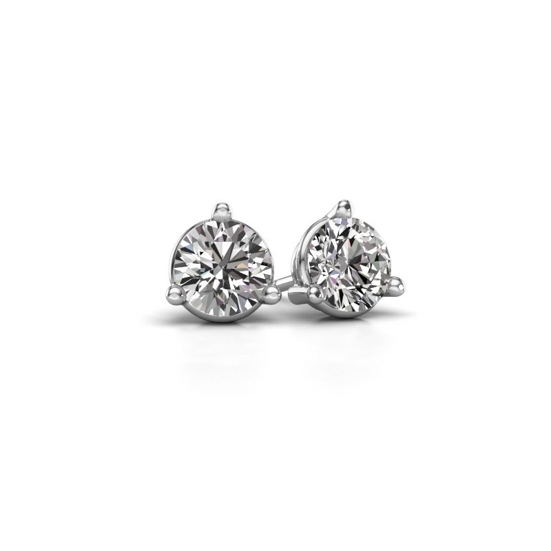 Stud earrings Somer 585 white gold diamond 0.10 crt