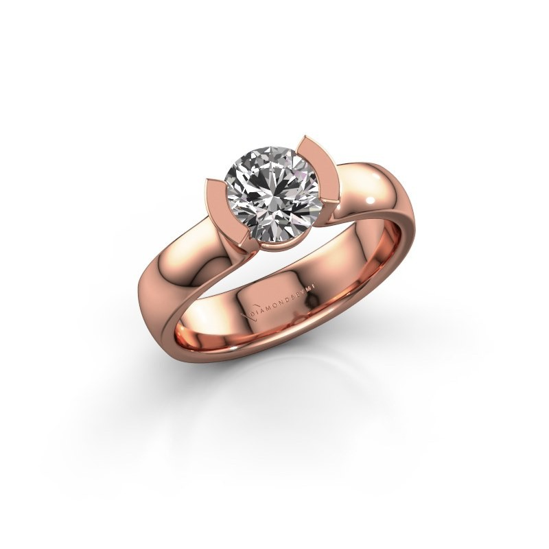 Verlovingsring Ophelia 375 rosé goud diamant 1.00 crt