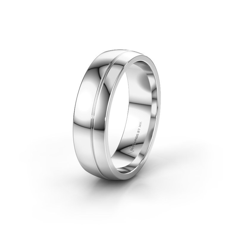 Wedding ring WH0223M56A 950 platinum ±0.24x0.07 in