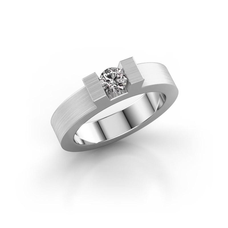 Ring Leena 1 585 witgoud lab-grown diamant 0.30 crt