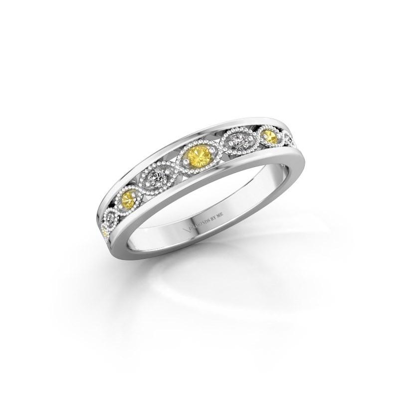 Vorsteckring Laine 925 Silber Gelb Saphir 2 mm