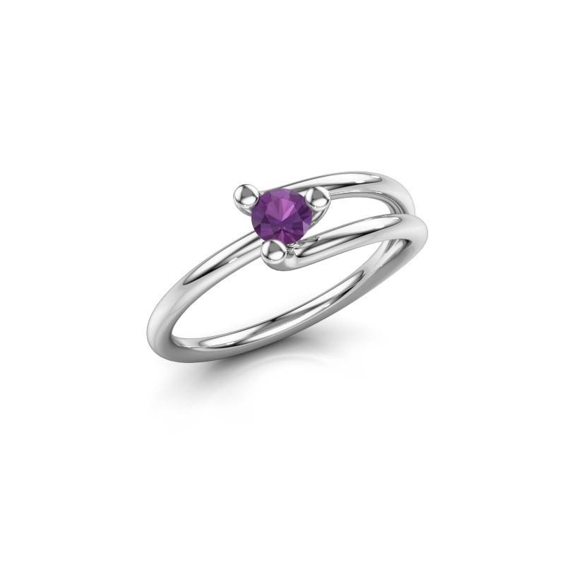 Ring Roosmarijn 925 Silber Amethyst 3.7 mm