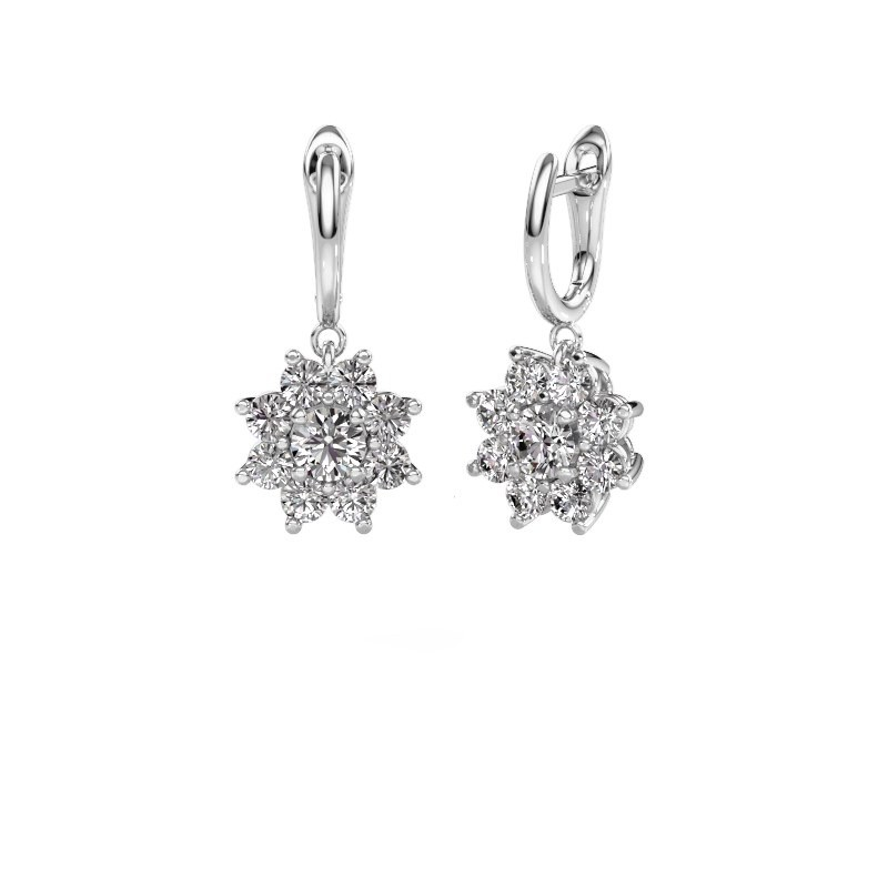 Drop earrings Camille 1 585 white gold diamond 2.92 crt