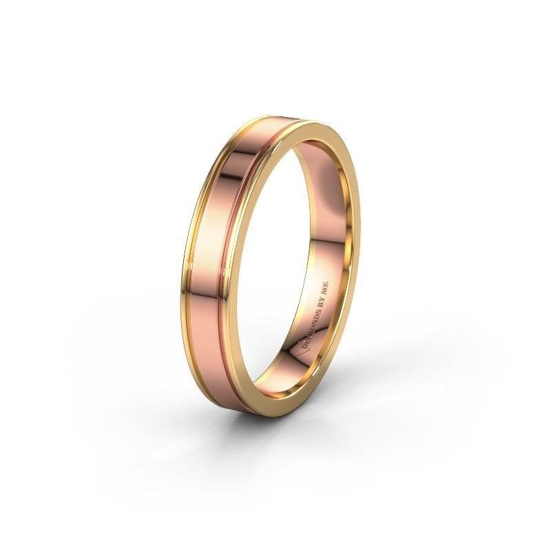 Trouwring WH2110M14A 585 rosé goud ±4x1.7 mm