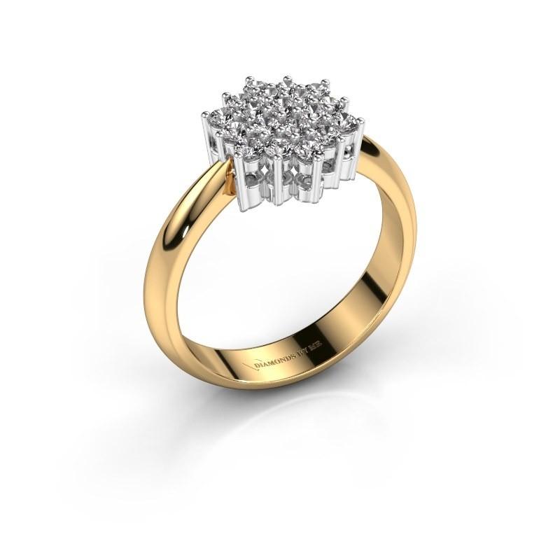Ring Bente 585 goud lab-grown diamant 0.532 crt