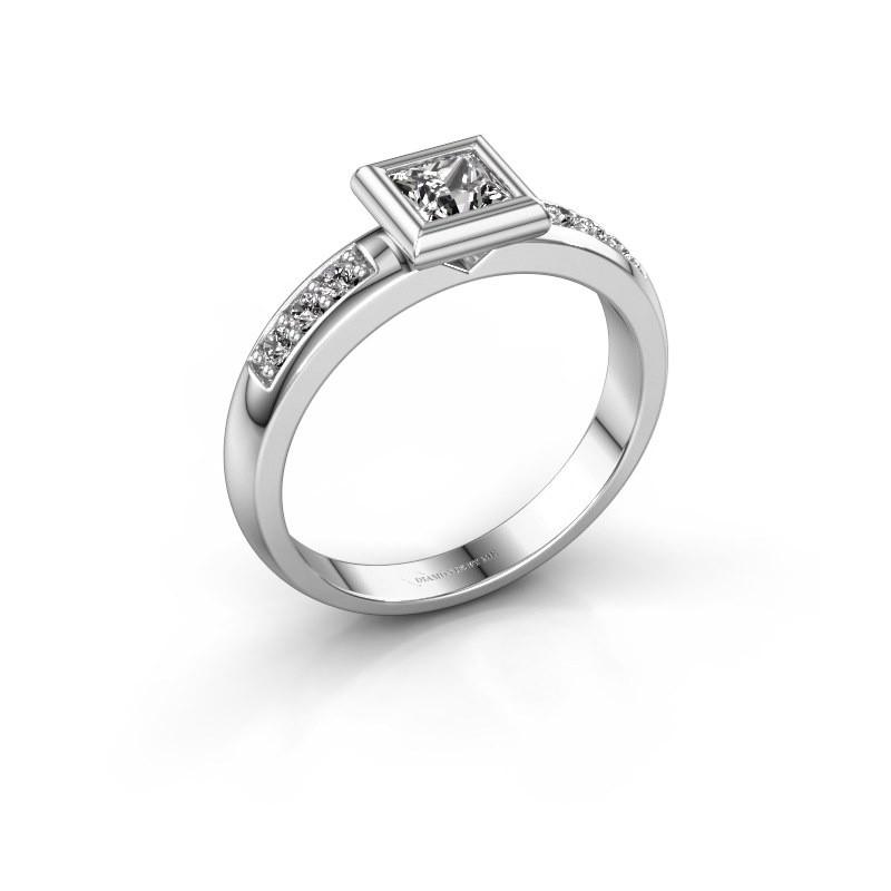 Steckring Lieke Square 925 Silber Diamant 0.52 crt