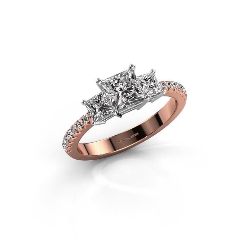 Verlovingsring Dorla 585 rosé goud lab-grown diamant 1.449 crt