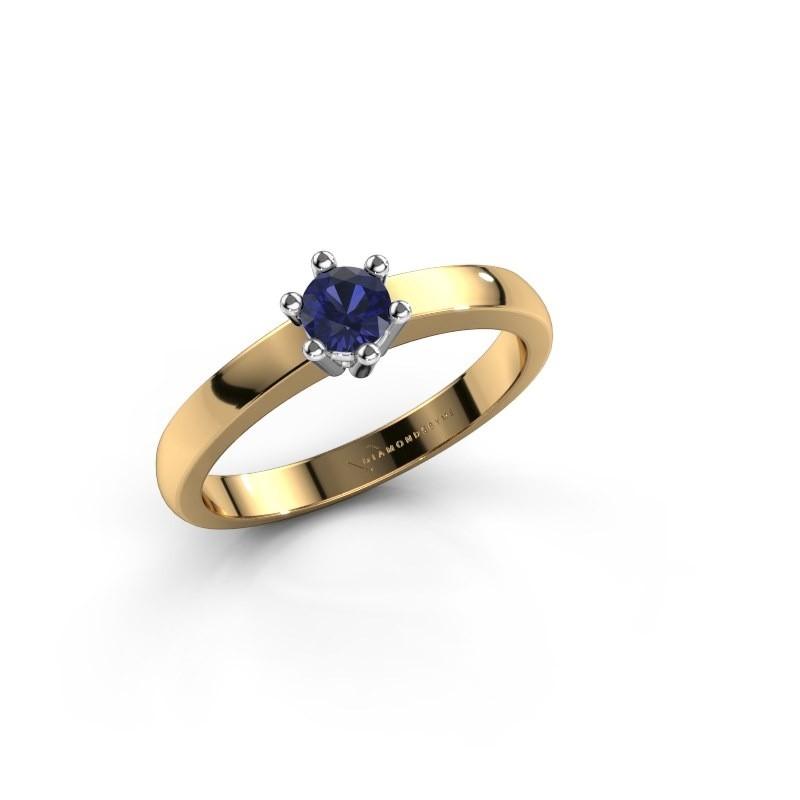 Verlovingsring Luna 1 585 goud saffier 3.7 mm