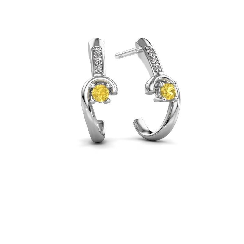 Earrings Ceylin 925 silver yellow sapphire 2.5 mm