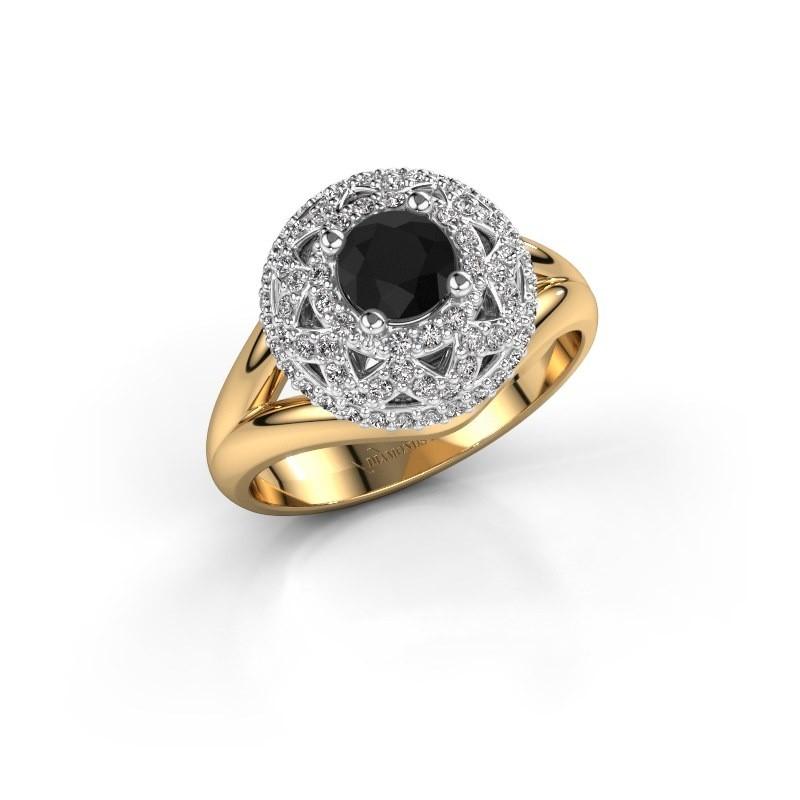 Ring Leonora 585 gold black diamond 0.98 crt