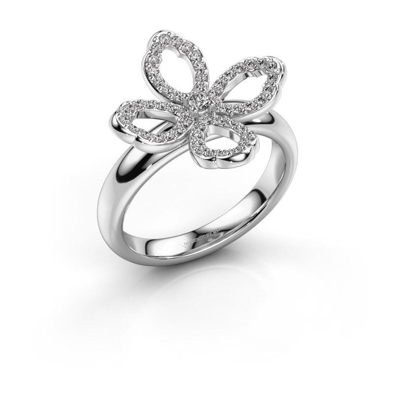 Ring Chelsea 585 witgoud diamant 0.31 crt