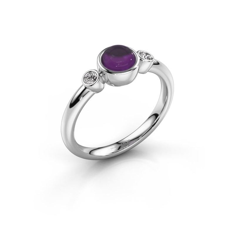 Ring Muriel 925 silver amethyst 5 mm