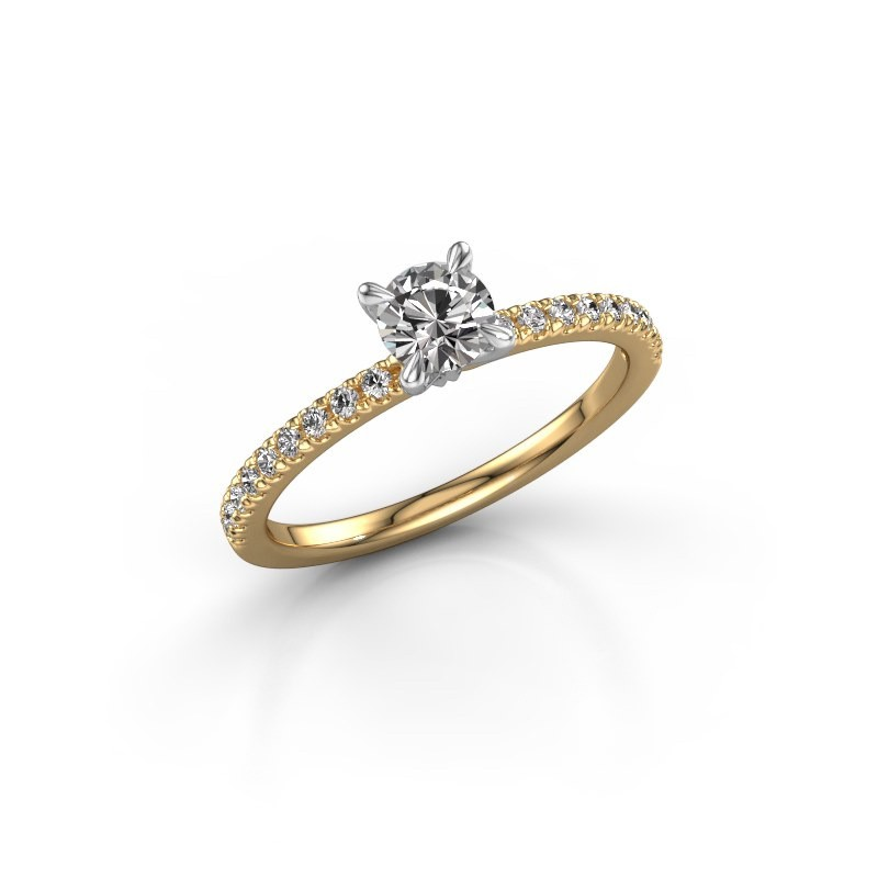 Verlovingsring Crystal rnd 2 585 goud diamant 0.58 crt