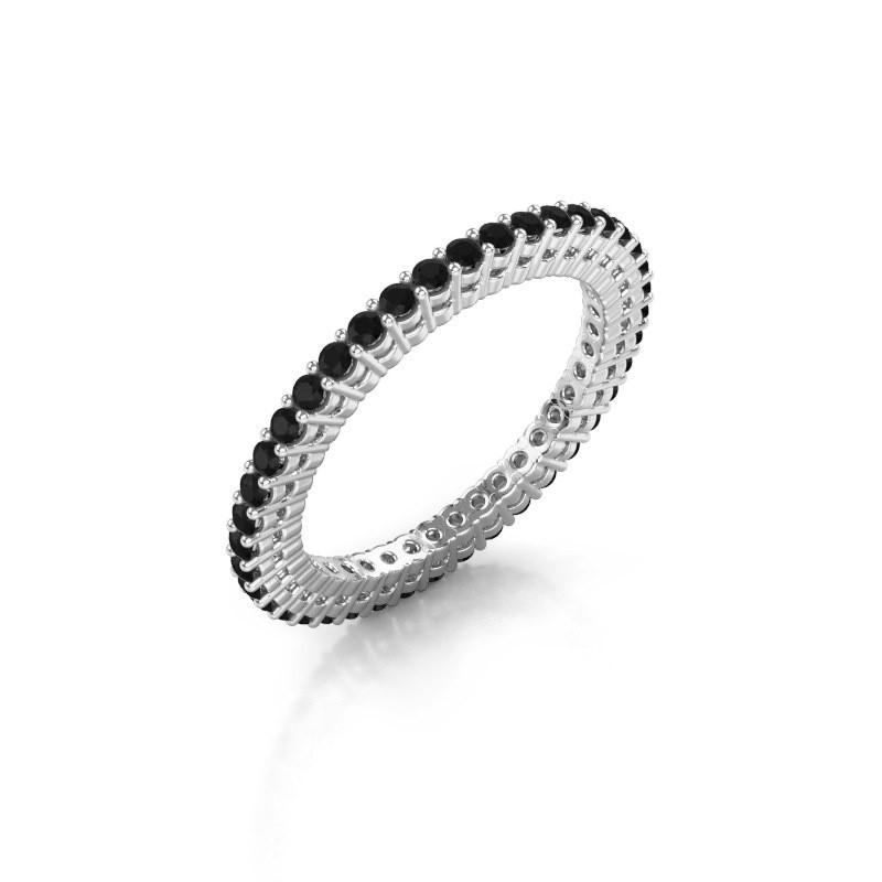 Aanschuifring Rufina 1 925 zilver zwarte diamant 0.72 crt