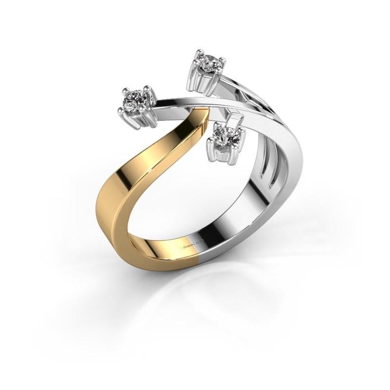 Ring Lillian 585 goud diamant 0.18 crt
