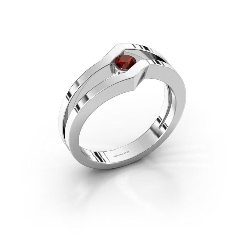 Ring Elize 925 zilver granaat 3.4 mm