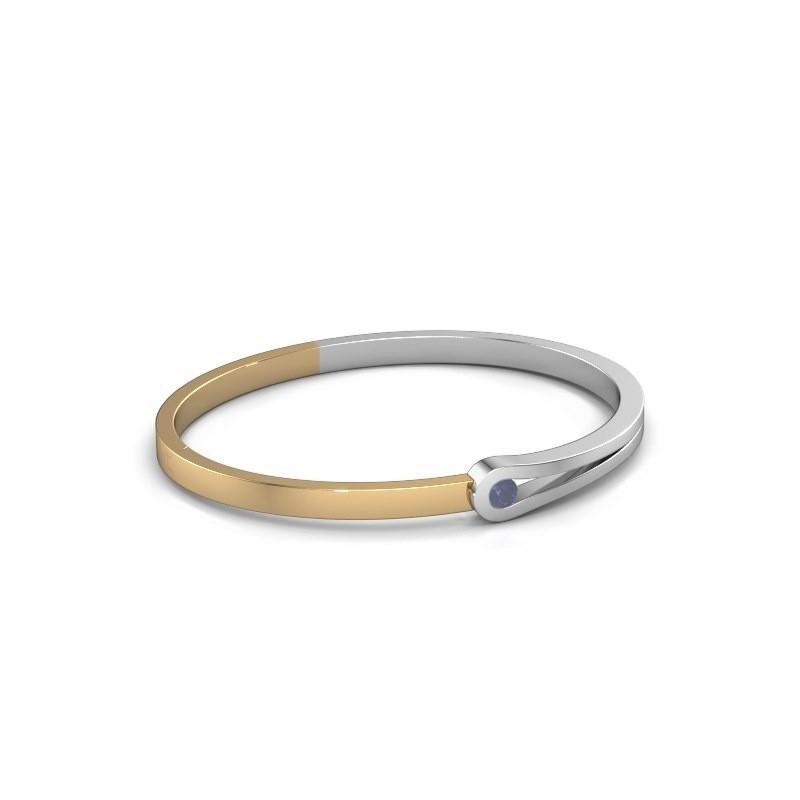 Bracelet jonc Kiki 585 or blanc saphir 4 mm