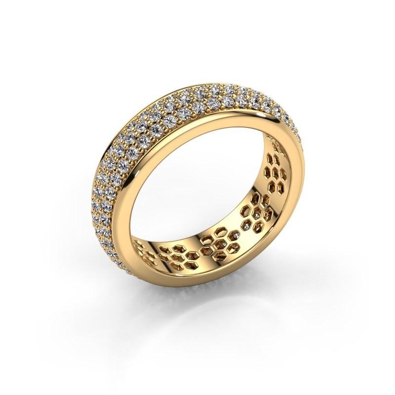 Ring Tara 375 Gold Zirkonia 1.3 mm