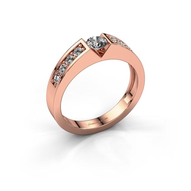 Verlovingsring Lizzy 2 375 rosé goud lab-grown diamant 0.30 crt