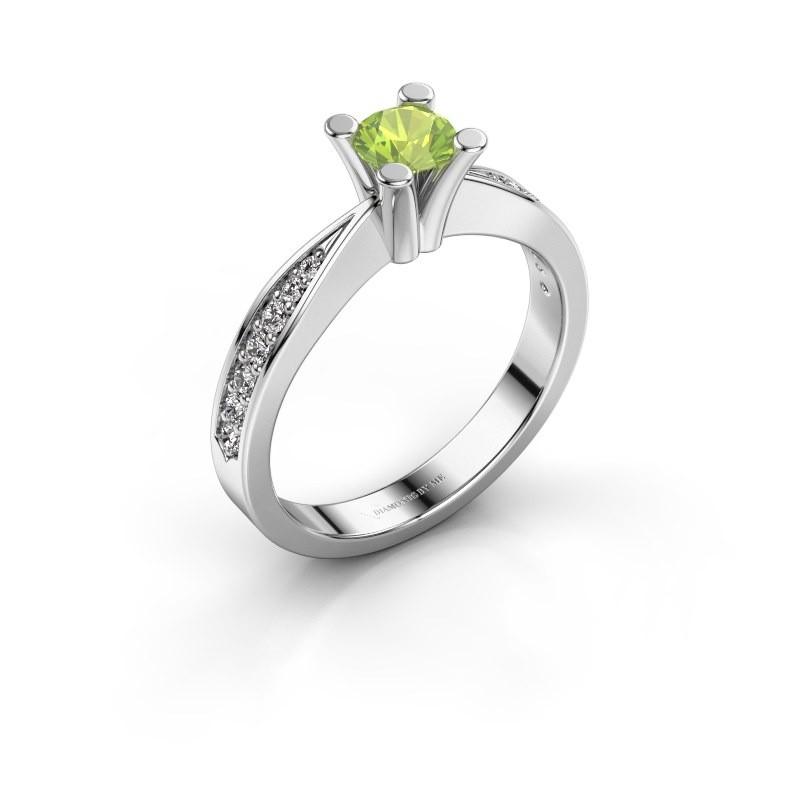 Promise ring Ichelle 2 925 zilver peridoot 4.7 mm