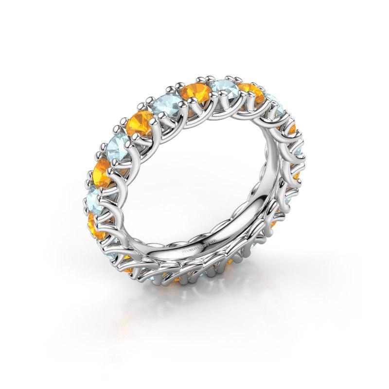 Ring Fenna 585 witgoud citrien 3 mm